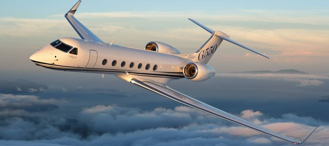 Gulfstream G550 - chiec phi co dang cap hinh anh