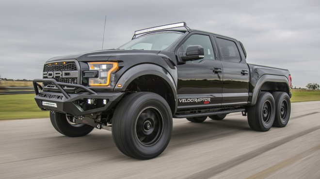 Hennessey VelociRaptor 6x6 - khung long 6 banh gia 349.000 USD hinh anh 1