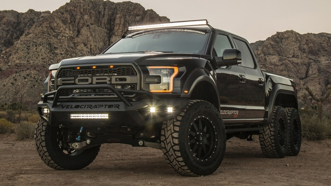 Hennessey VelociRaptor 6x6 - khung long 6 banh gia 349.000 USD hinh anh 6