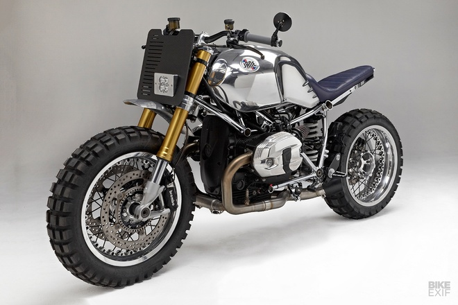 Xe do BMW R nineT theo phong cach cafe racer voi khung ma crom hinh anh 8
