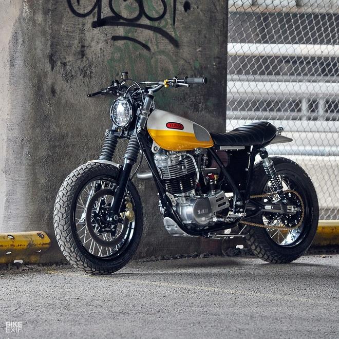 'Tia nang vang' Yamaha SR500 Scrambler tai Chicago hinh anh 4