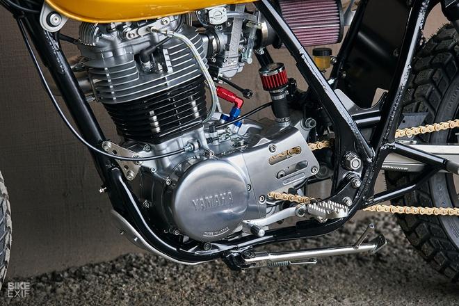 'Tia nang vang' Yamaha SR500 Scrambler tai Chicago hinh anh 5