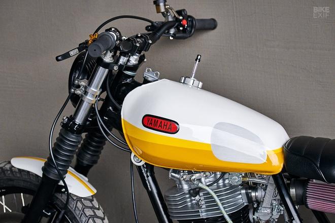 'Tia nang vang' Yamaha SR500 Scrambler tai Chicago hinh anh 9