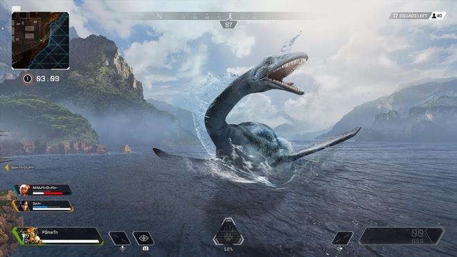 Nessie khổng lồ sẽ nổi lên từ mặt nước. Ảnh: TmarTn2