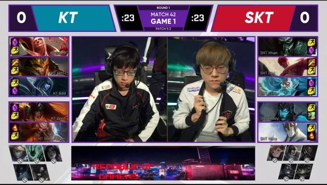 Tran derby Lien Minh Huyen Thoai giua SKT T1 va KT gay that vong hinh anh 1