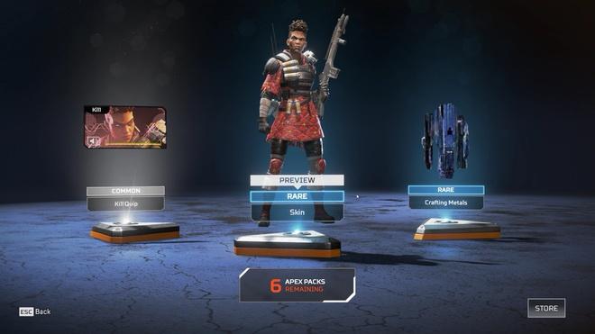 Chỉ có 3 vật phẩm trong mỗi hộp xổ số. Ảnh: EA