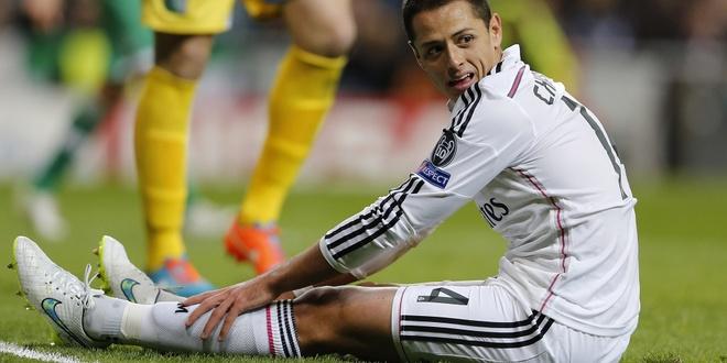 Chicharito bat man voi Real Madrid hinh anh