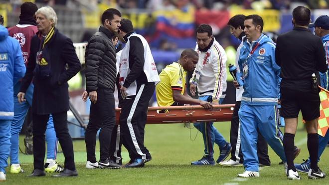 'Argentina huong loi khi doi thu gap chan thuong' hinh anh 1 Colombia chịu tổn thất nặng nề khi mất 2 tiền vệ trụ. Ảnh: Goal.