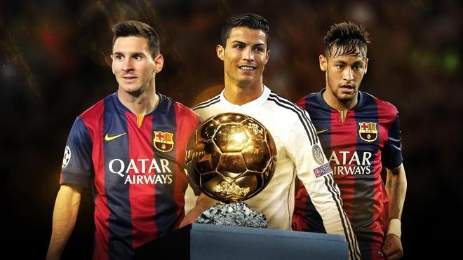 Neymar, Messi, Ronaldo lot top 3 de cu Qua bong vang hinh anh
