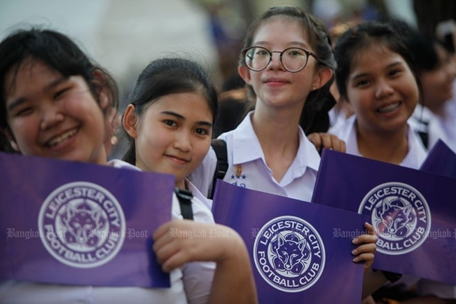 Leicester tra tien cho CDV Thai Lan dieu hanh mung vo dich hinh anh