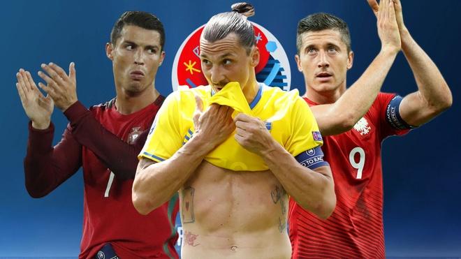 Ronaldo, Ibrahimovic lot doi hinh te nhat luot hai Euro 2016 hinh anh
