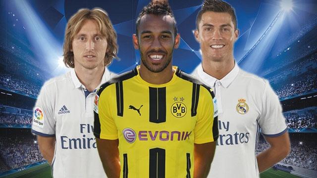 Aubameyang dan dau sieu doi hinh ket hop Dortmund - Real hinh anh