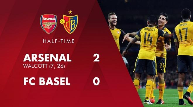Arsenal thang de, PSG vat va loi nguoc dong truoc Ludogorets hinh anh 15