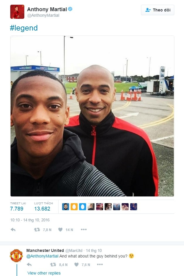 Fan Arsenal phan no vi MU coi thuong Thierry Henry hinh anh 1