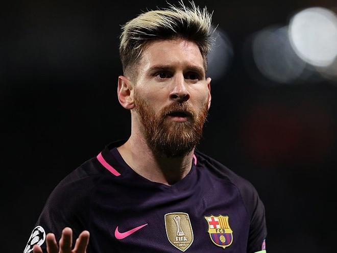 Messi pha ky luc ghi ban cua Raul tai Champions League hinh anh