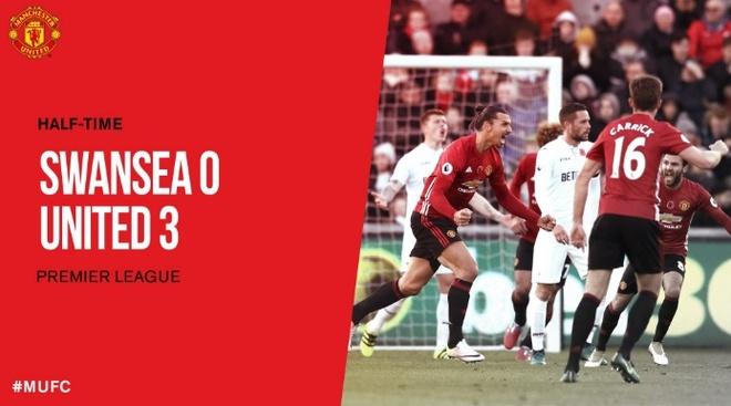 Ibra giai khat ban thang, MU danh bai Swansea 3-1 hinh anh 18