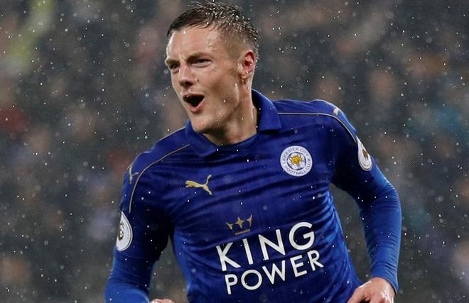 Vardy lap hat-trick, Leicester de bep Man City 4-2 hinh anh