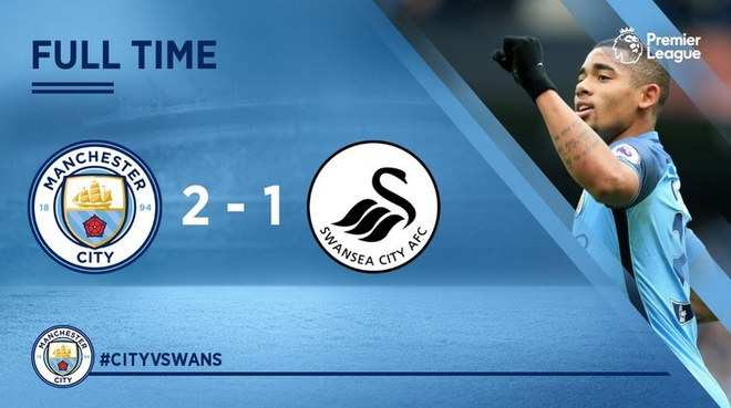 Man City vs Swansea (2-1): Gabriel Jesus lap cu dup hinh anh 20