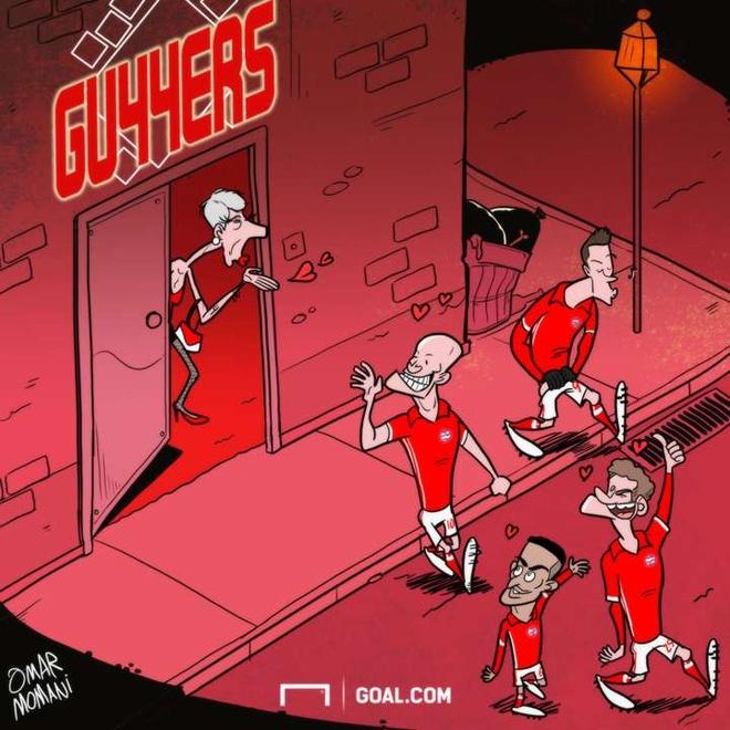 Hi hoa sao Bayern vui ve voi Arsene Wenger anh 1
