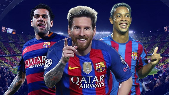 Messi va doi hinh khong Tay Ban Nha vi dai cua Barca hinh anh