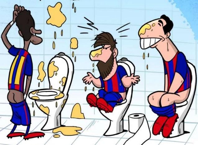 Hi hoa thoi quen khac la cua Messi va Suarez hinh anh