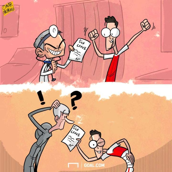 Hi hoa Mourinho xui Oezil cao benh de den MU hinh anh 1