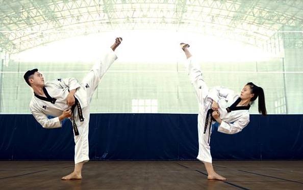Man nhay rap Taekwondo khien nhieu nguoi thich thu hinh anh
