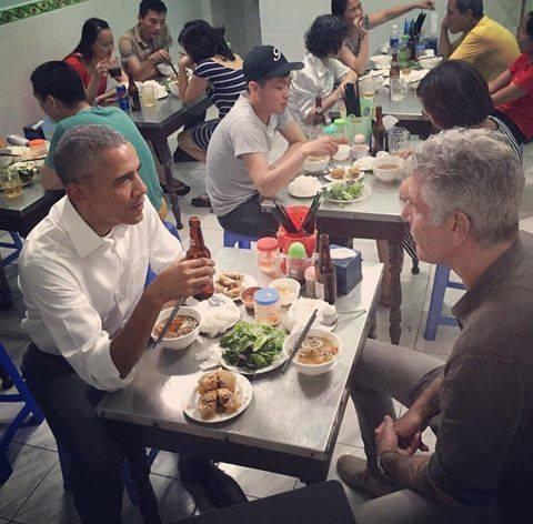 Tong thong Obama an bun cha anh 5