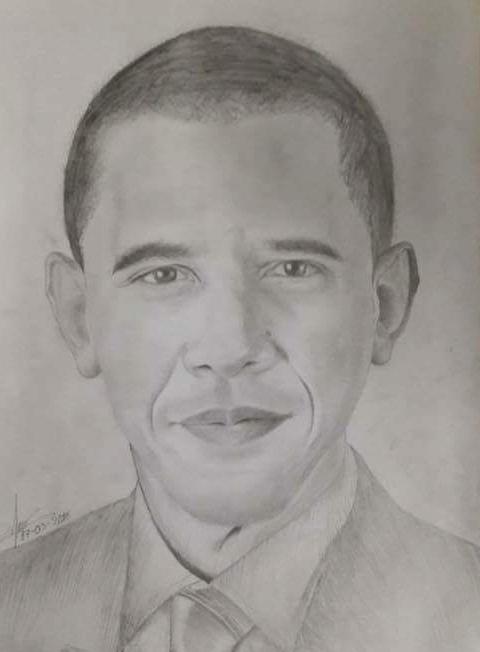 Tranh chan dung ong Obama xuat hien khap dien dan mang hinh anh 9