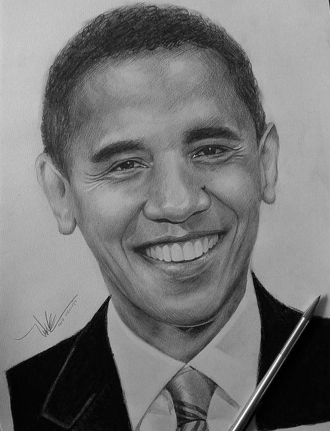 Tranh chan dung ong Obama xuat hien khap dien dan mang hinh anh 7