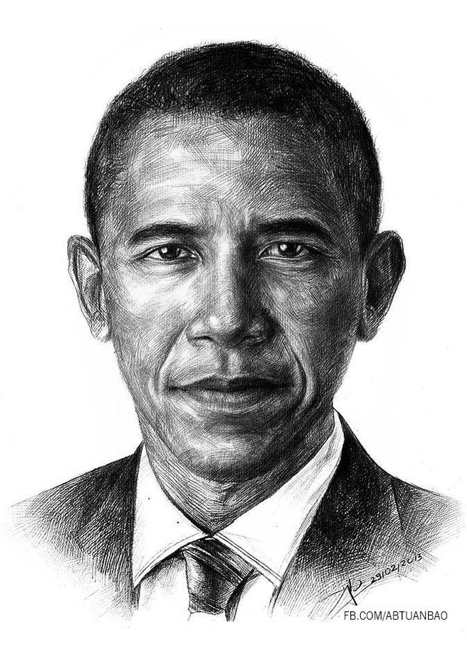Tranh chan dung ong Obama xuat hien khap dien dan mang hinh anh 2