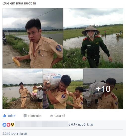 Cong an Ninh Binh loi chan dat giup dan gat lua hinh anh 1