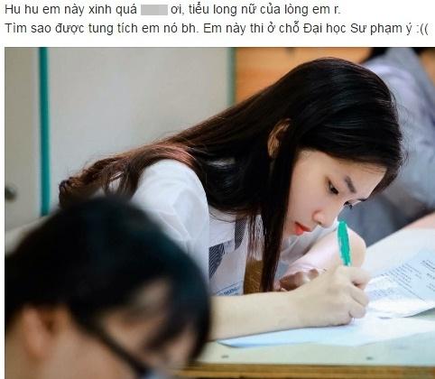 Nu sinh giong Luu Diec Phi noi bat trong phong thi hinh anh 1