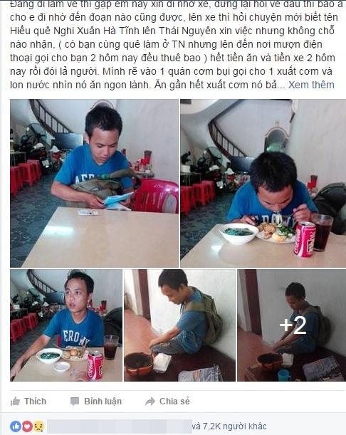 Chang trai ngheo bat ngo gap nhieu an nhan tai Ha Noi hinh anh 1
