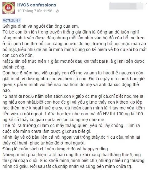 Tam su roi nuoc mat cua nguoi me ung thu nhuong con su song hinh anh 1