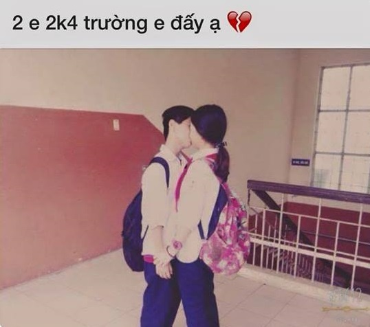 Hoc sinh lop 8 quy goi to tinh tai truong anh 1