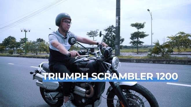 Trai nghiem Triumph Scrambler 1200XC - Dang co dien, nhieu cong nghe hinh anh