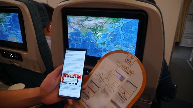 Wi-Fi tren may bay Vietnam Airlines cham, du de nhan tin va gui mail hinh anh