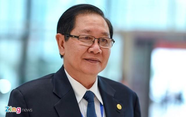 Chat van Bo truong Noi vu Le Vinh Tan hinh anh