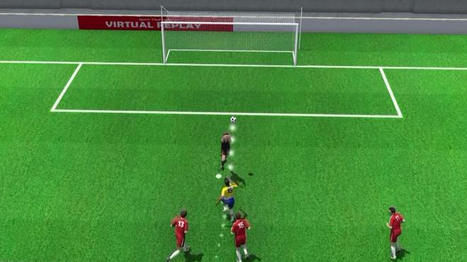 Paulinho mo ty so cho Brazil qua goc nhin 3D hinh anh
