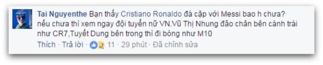 'Tuyet Dung hay nhat tran, da nhu Cristiano Ronaldo' hinh anh 3