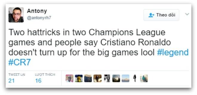 Ronaldo ghi hat-trick anh 8