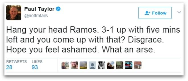 Binh luan vien buc xuc voi 'man an va dang khinh' cua Sergio Ramos hinh anh 6