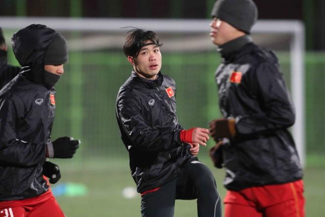 U23 Viet Nam 'de tho' hon voi thoi tiet o Trung Quoc hinh anh