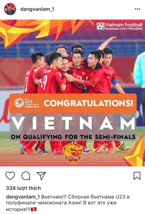 Cong Vinh, Thanh Trung tu hao voi chien cong cua U23 Viet Nam hinh anh 8