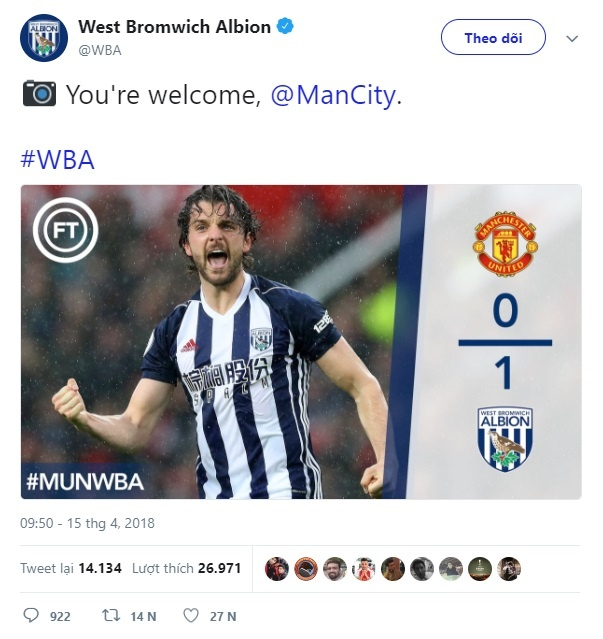Gian tiep giup Man City vo dich, West Brom khong can Pep cam on hinh anh 5