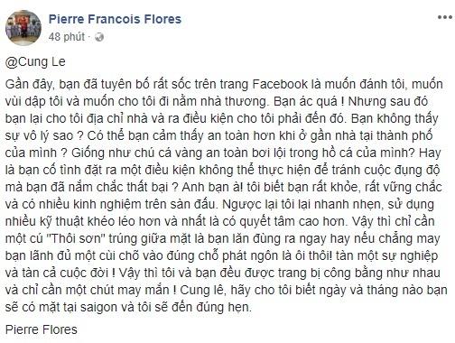 Vo su Flores: 'An cui cho cua toi la Cung Le tan doi' hinh anh 2