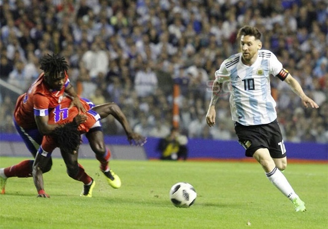 Messi ghi hat-trick, DT Argentina thang tran 4-0 truoc World Cup hinh anh 5