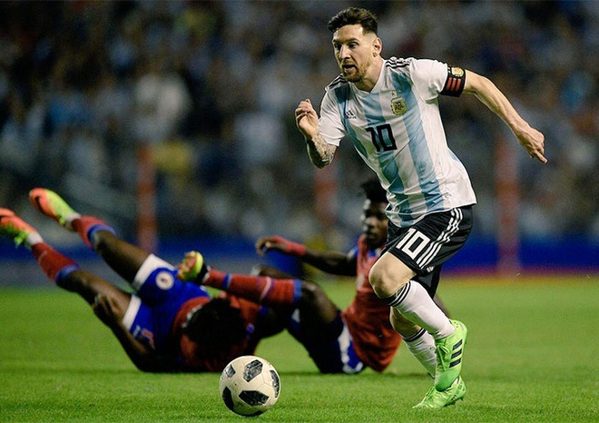 Messi ghi hat-trick, DT Argentina thang tran 4-0 truoc World Cup hinh anh 6
