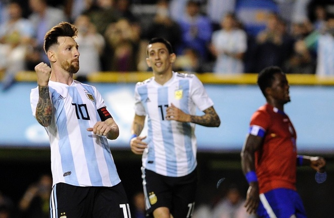 Messi ghi hat-trick, DT Argentina thang tran 4-0 truoc World Cup hinh anh 7